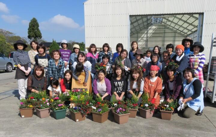 南山田カレッジ「寄せ植え教室」 in 千華園