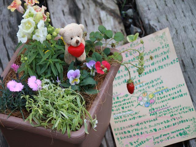 美食花の寄せ植えギフト☆