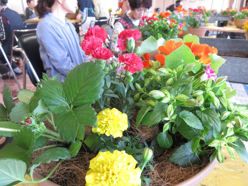 JA福光さんで美食花の寄せ植え教室