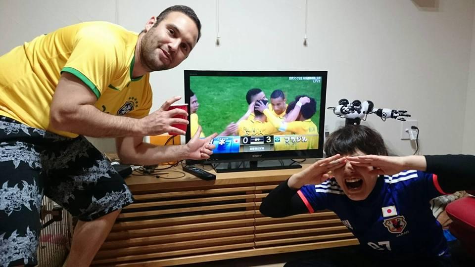 白熱の日本VSブラジル観戦!!