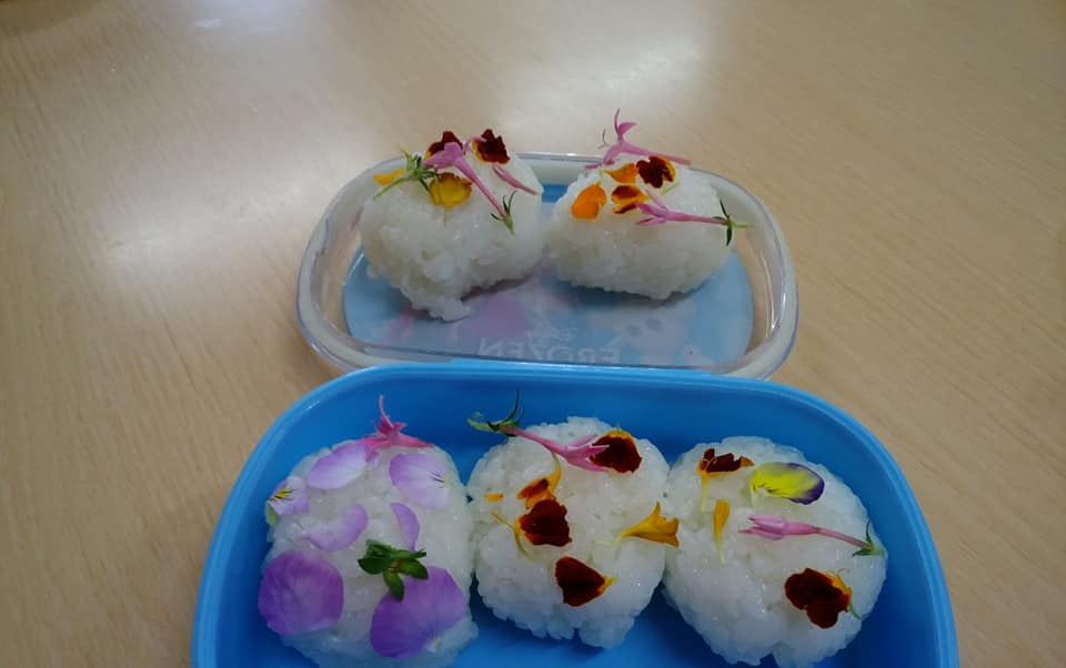 食育の一環で美食花を取り入れて下さいました♪