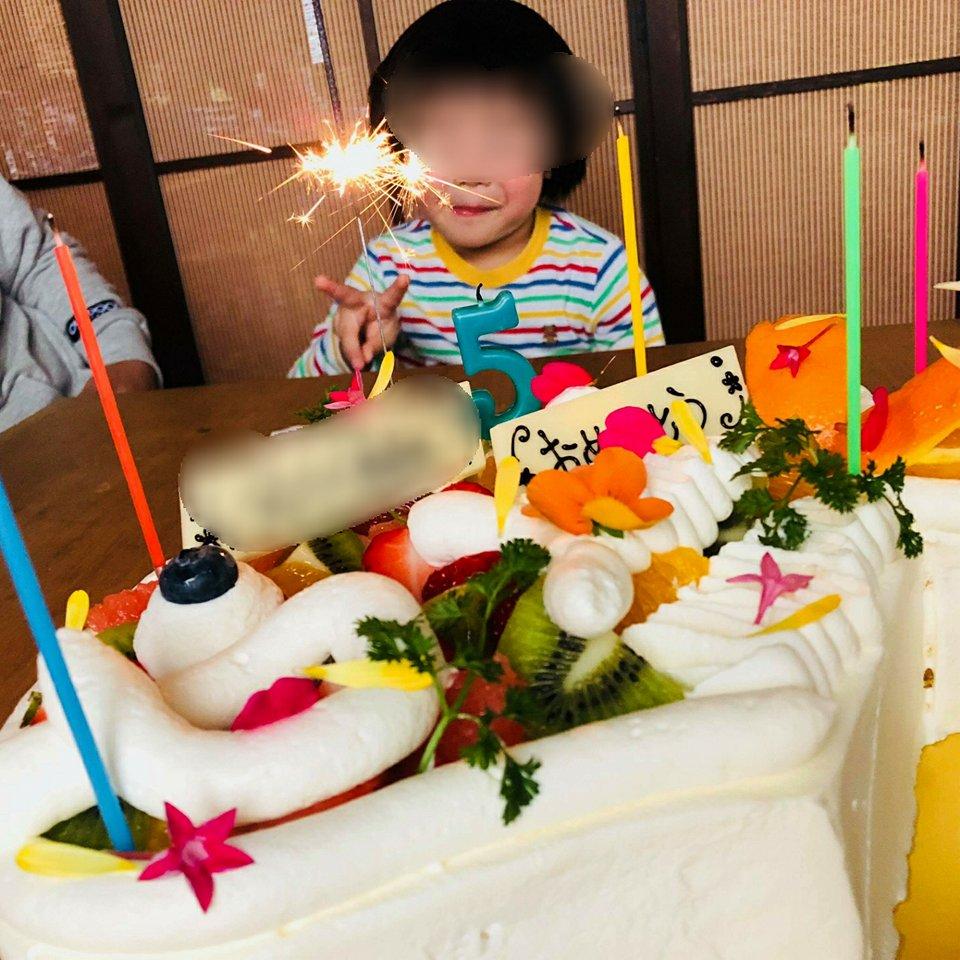 エディブルフラワー「美食花」のケーキ♪