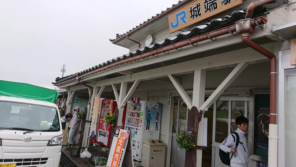城端駅前花飾り冬version☆