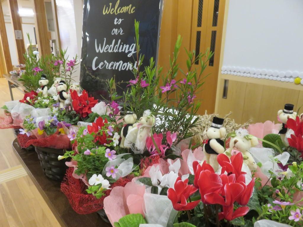 結婚式の会場装花をさせていただきました