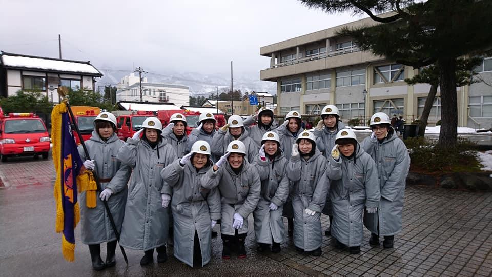 城端女性防火クラブも出初式に出動