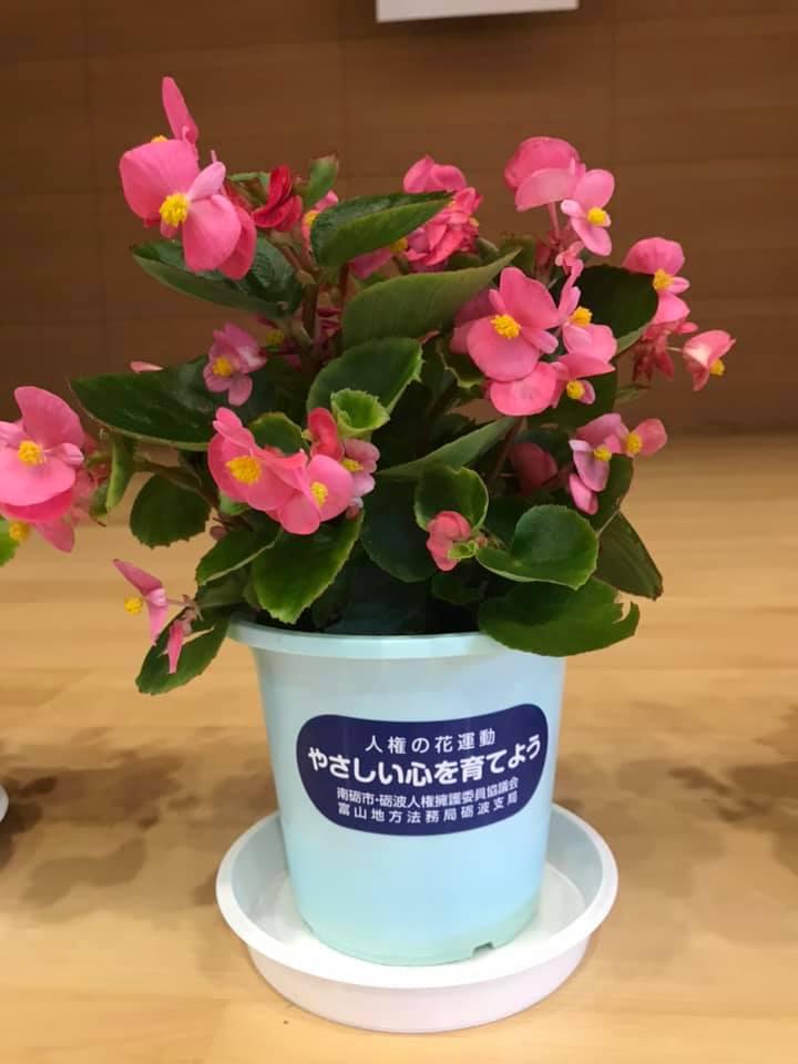 人権の花贈呈式