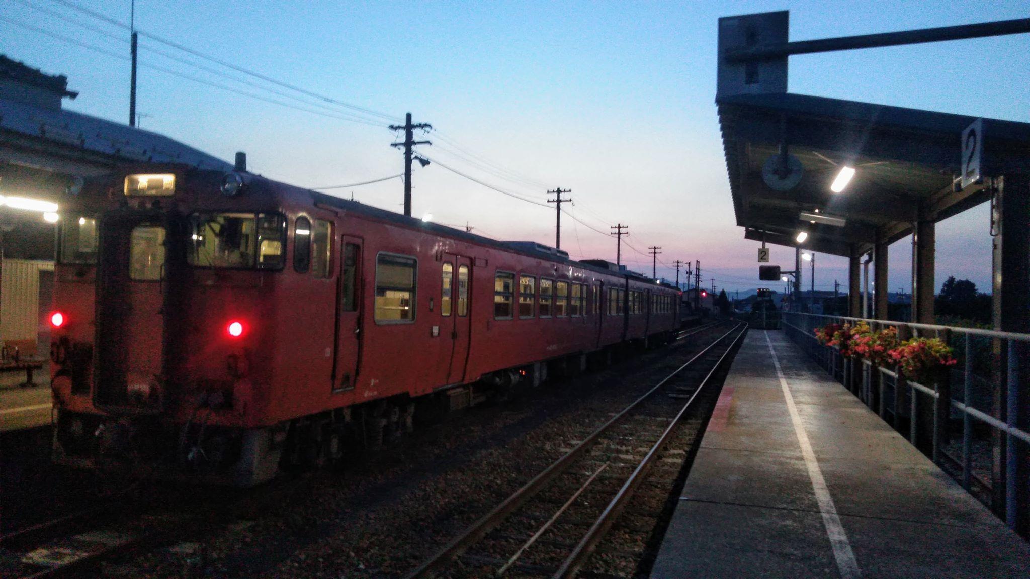 夕暮れの終着駅