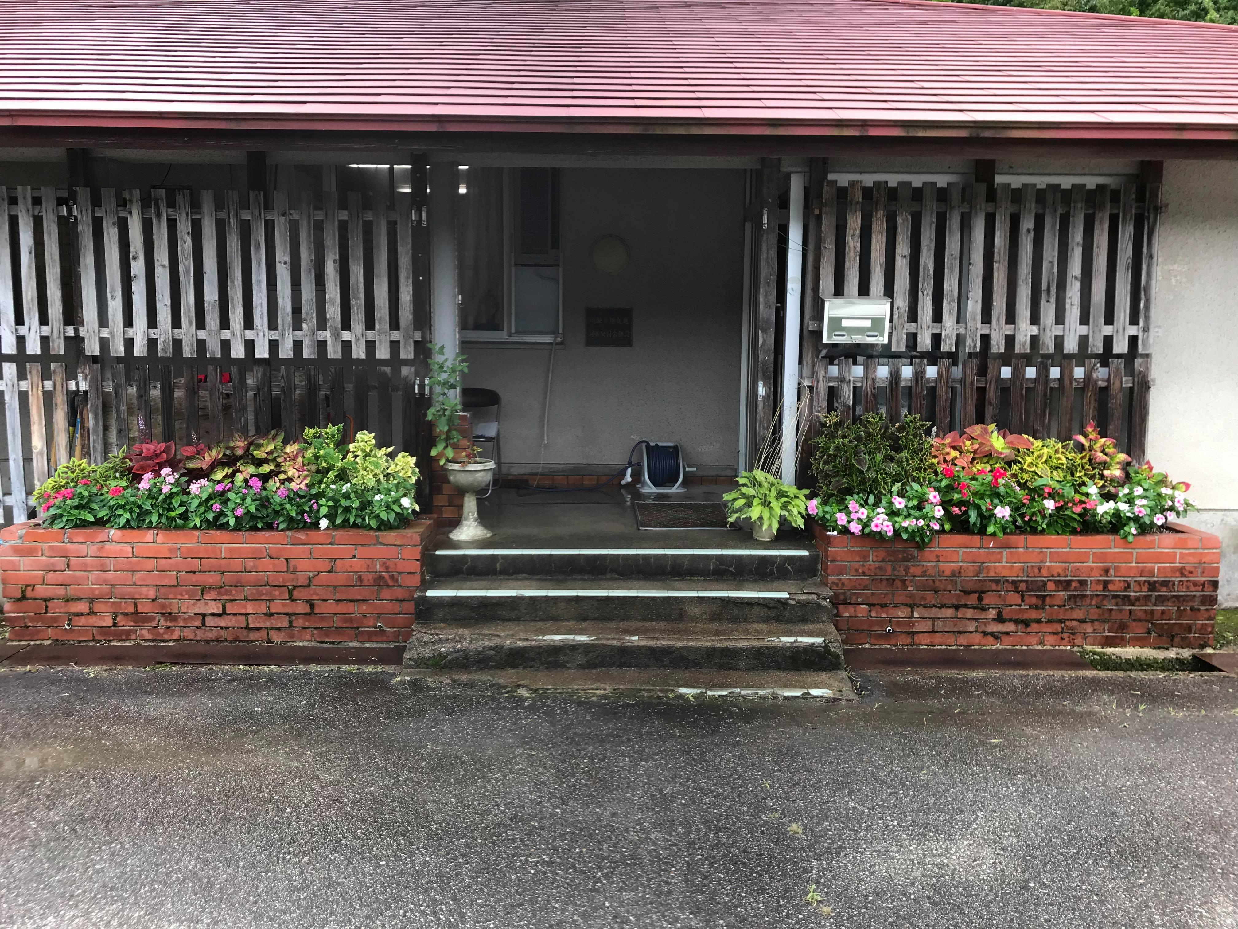 事業所前花壇のその後